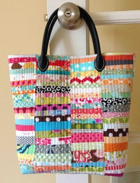 summer sewing 7 quilted tote bag patterns Interesting Quilted Tote Bag Pattern Gallery