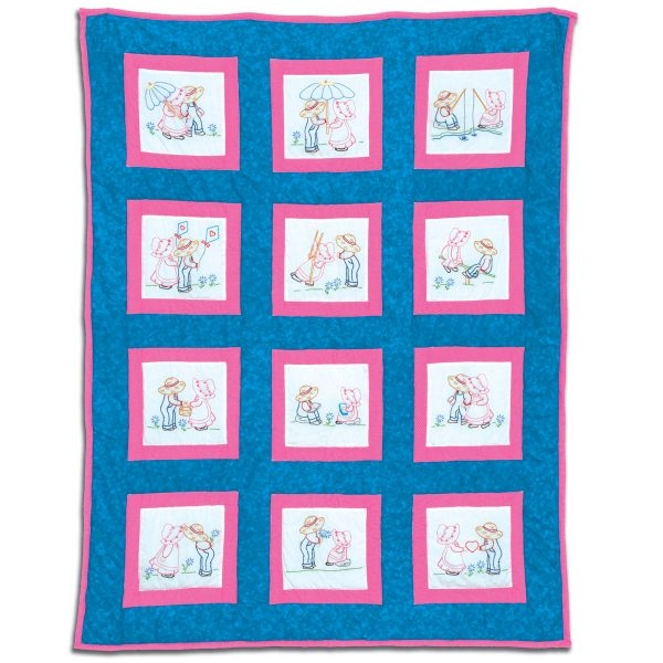 sunbonnet sue sam 9 theme quilt blocks Interesting Jack Dempsey Needle Art Baby Quilts