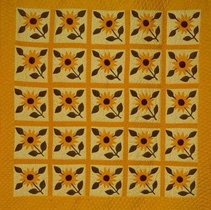 sunflower quilt free quilt patterns Cozy Sunflower Quilt Patterns Free