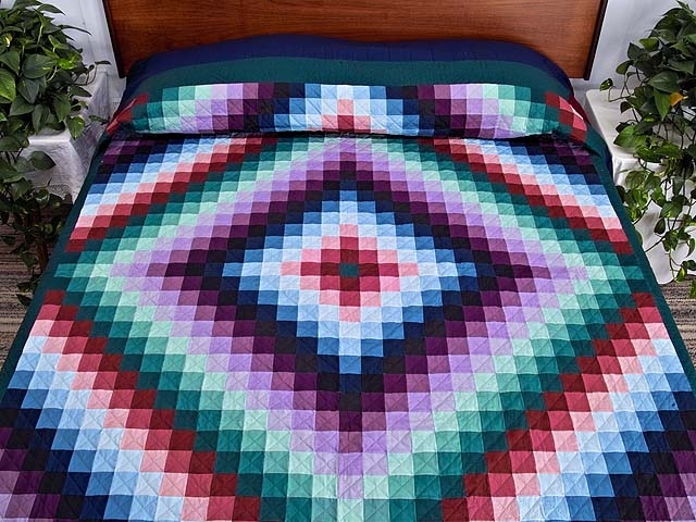 sunshine and shadow quilt superb meticulously made amish Stylish Sunshine And Shadows Quilt Pattern