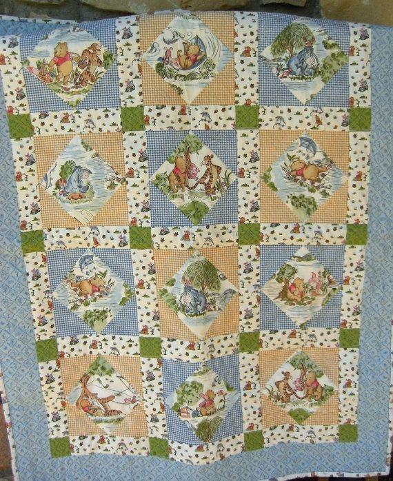 super cute winnie the pooh quilt sharileedesigns on etsy Cool Winnie The Pooh Quilt Pattern Inspirations