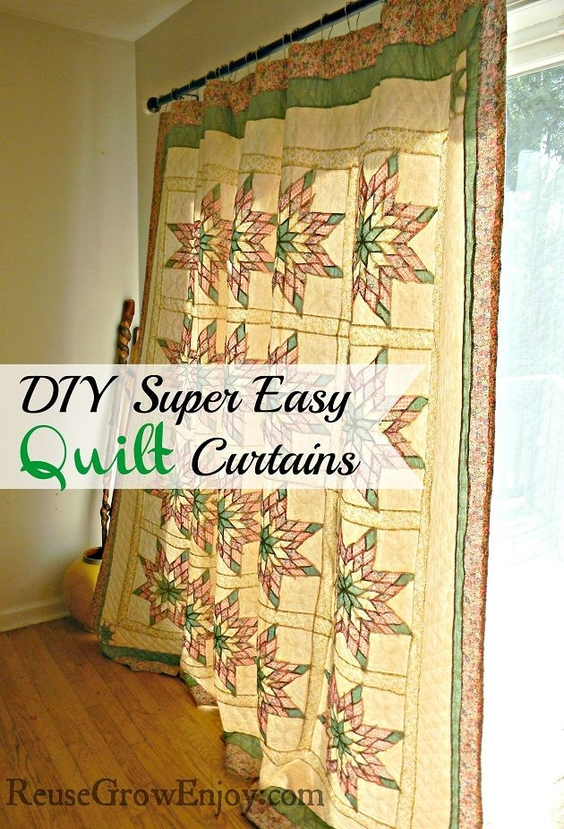 super easy way to make quilt curtains it is so easy anyone Stylish Quilted Curtain Patterns