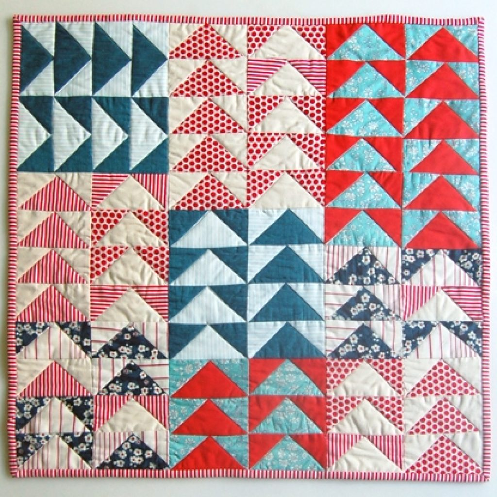 super simple flying geese quilt tutorial suzy quilts Cozy Easy Flying Geese Quilt Pattern