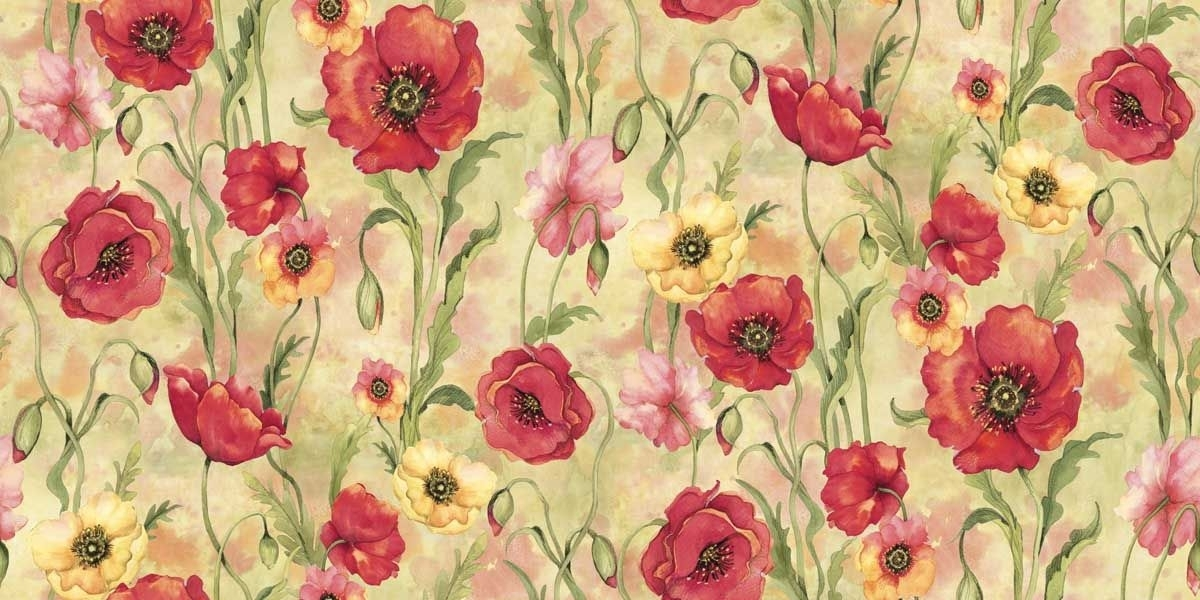 susan winget premium quilt fabric poppies poppy gardensusan Cozy New Poppy Quilt Fabric