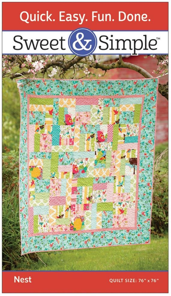 sweet simple nest square block quilt pattern martigale and company Interesting Square Block Quilt Patterns Gallery