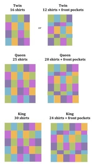 t shirt quilts good idea of how many shirts it will take Cozy T Shirt Quilt Pattern Queen Gallery