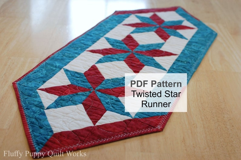 table runner pattern quilted table runner pdf pattern star quilt pattern table mat pattern table pad pdf quilt pattern Modern Quilted Table Runner Patterns Gallery