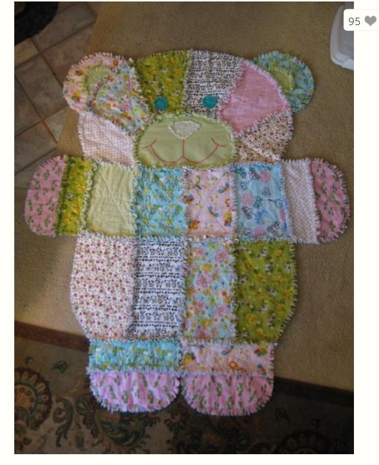 teddy bear rag quilt crafty fun rag quilt patterns Cozy Teddy Bear Rag Quilt Pattern Gallery
