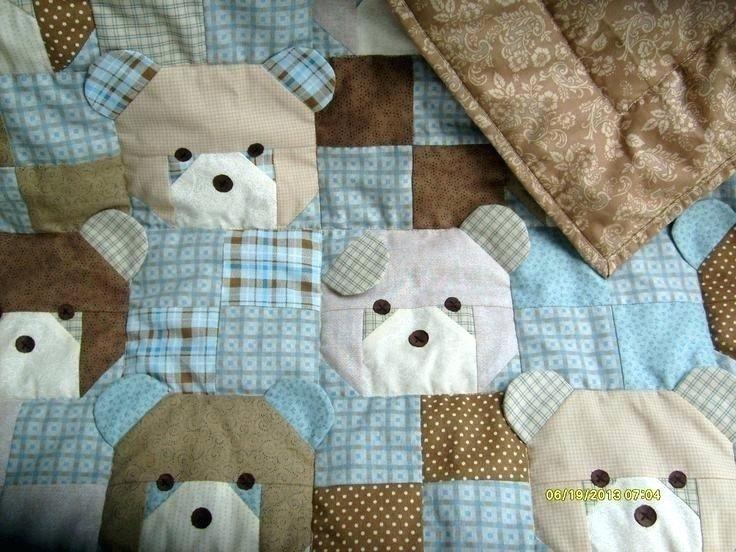 teddy bear rag quilt quilt racks ba rag quilts Cozy Teddy Bear Rag Quilt Pattern Gallery