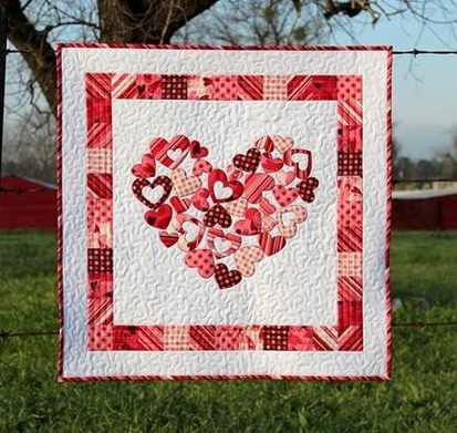 the best heart quilt designs patterns for valentines day Unique Applique Heart Quilt Patterns Inspirations