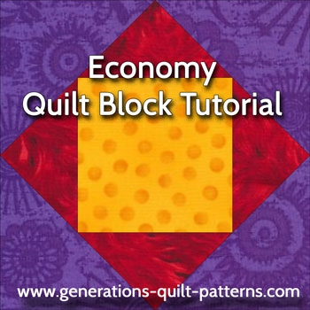the economy quilt block with a free paper piecing patterns Cozy Block In A Block Quilt Pattern