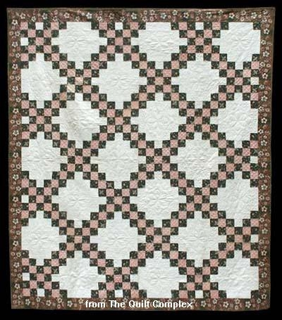 the irish chain quilt pattern from america or across the sea Interesting Irish Quilting Fabric Inspirations