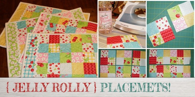 the jelly roll quilted placemat pattern is fun simple to Modern Quilted Placemat Patterns To Sew