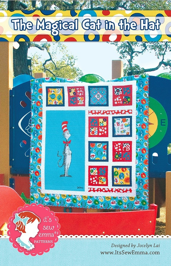 the magical cat in the hat quilt pattern its sew emma ise Interesting Cat In The Hat Quilt Pattern