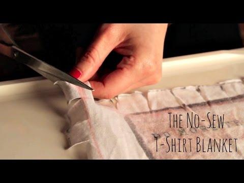 the no sew t shirt blanket tutorial Cozy No Sew Tshirt Quilt Gallery