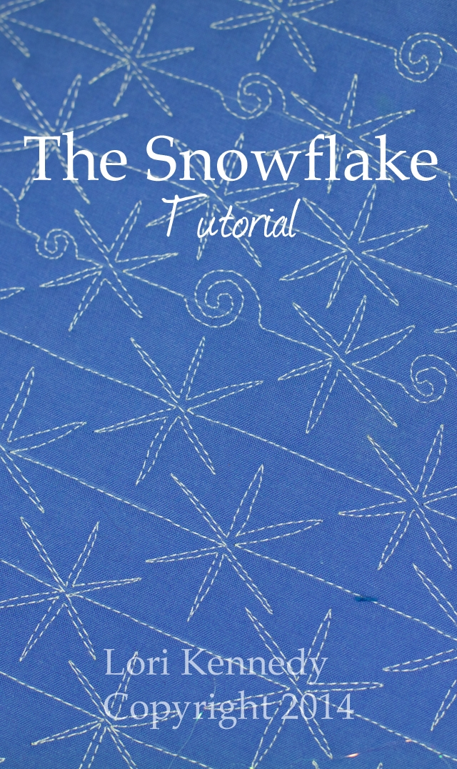 the snowflake a free motion quilting tutorial lori kennedy Cool Snowflake Quilting Pattern