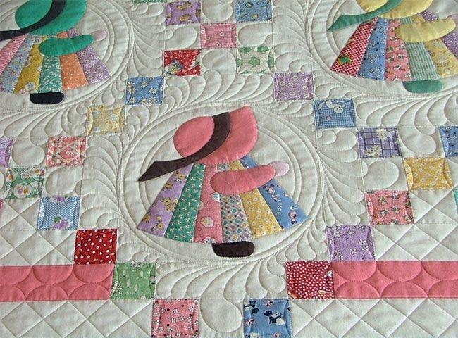 the sunbonnet sue quilt pattern is classic favorite Interesting Sunbonnet Sue Quilt Pattern