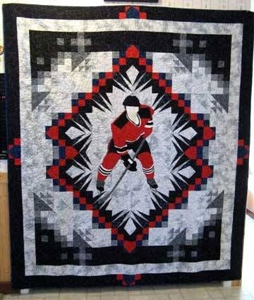 theme and pictorial quilts photo gallery hockey Hockey Quilt Pattern