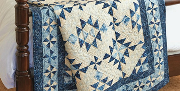 this blue and white quilt is a classic quilting digest Unique Blue And White Quilt Patterns Gallery