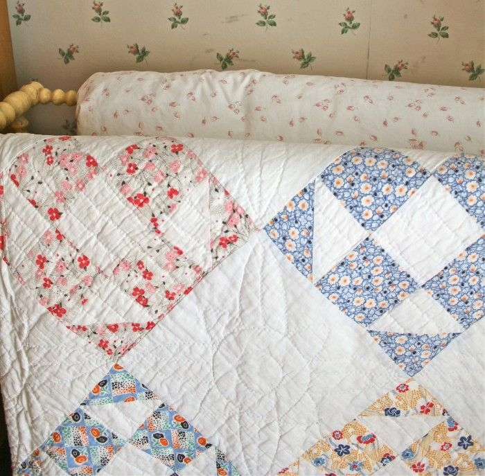 this looks antique like this quilt has comforted many and Cozy Vintage Quilts Patterns Gallery