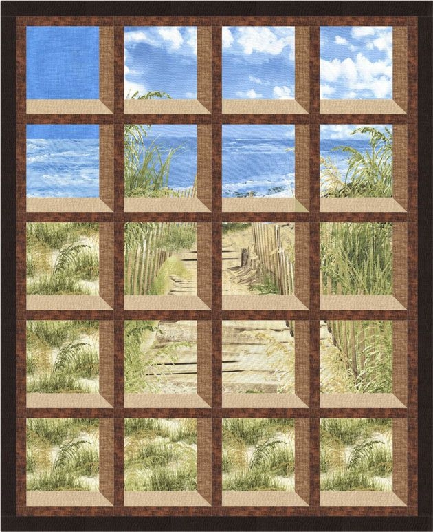 timeless treasures beach haven gulf breeze quilting Cool Attic Windows Quilt Pattern Inspirations