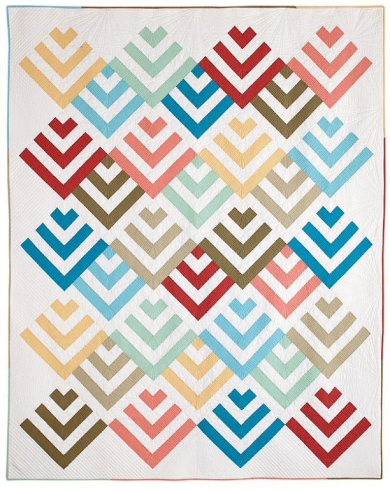 traditional quilt patterns history free log cabin quilt Elegant Traditional Quilt Patterns History