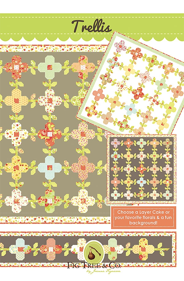 trellis quilt pattern fig tree quilts ft 1450 653341464309 Cozy Fig Tree Quilts Patterns