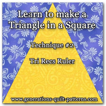 tri recs triangle ruler Unique Triangle Ruler For Quilting