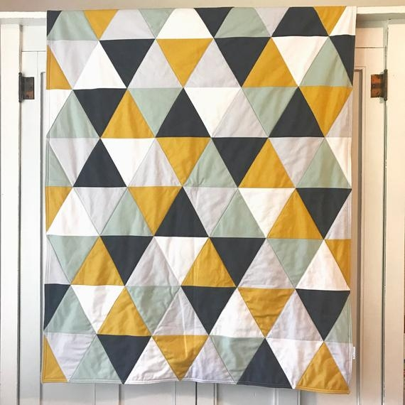 triangle ba blanket ba quilt modern nursery bedding Interesting Triangle Baby Quilt Inspirations
