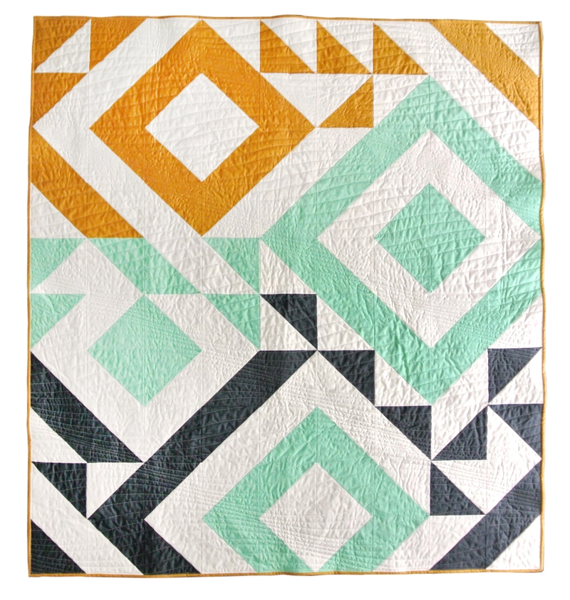 triangle jitters quilt pattern download Cozy Triangle Pattern Quilt Inspirations