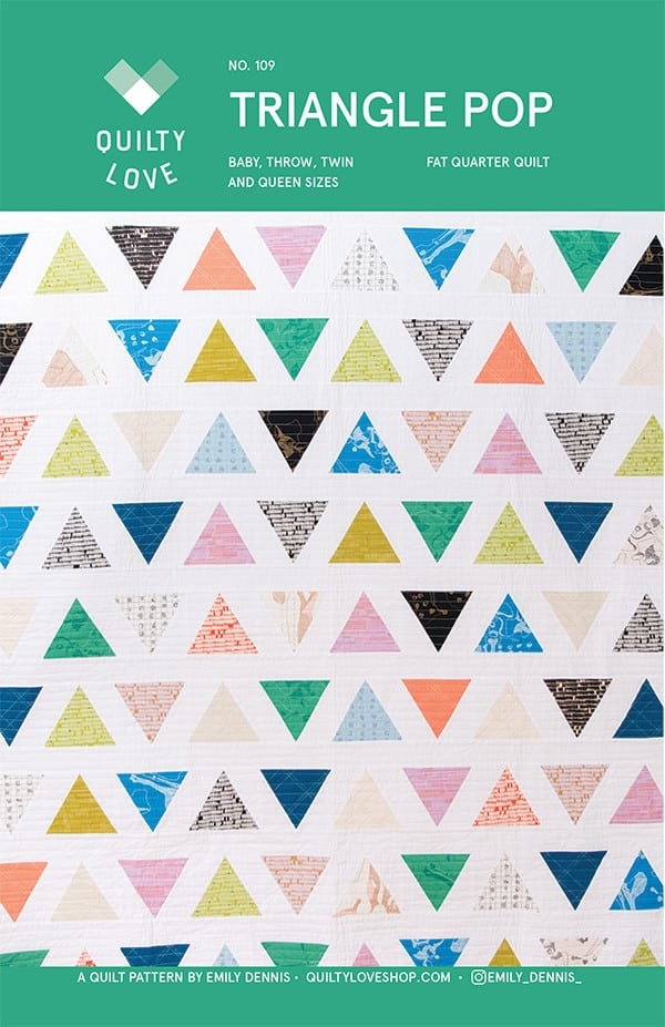 triangle pop quilty love quilt pattern makes 4 sizes fat quarter friendly Cool Fat Quarter Quilt Pattern Gallery