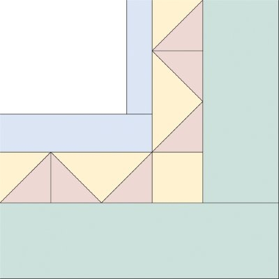triangles quilt border pattern howstuffworks Interesting Triangle Quilt Border Pattern Gallery