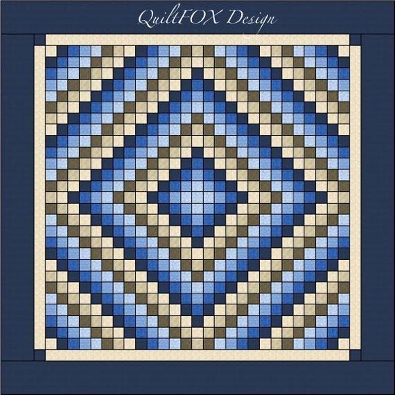 trip around the world quilt pattern king size 105 x 105 Cozy Trip Around The World Quilt Pattern