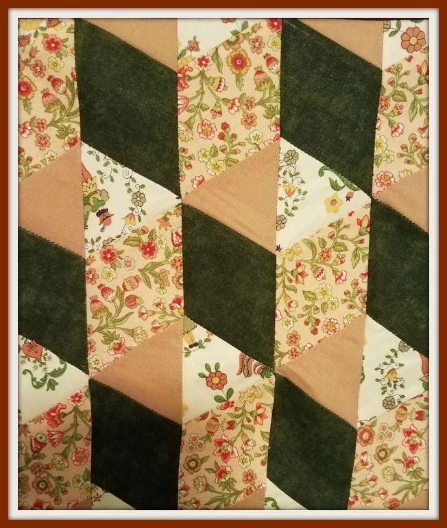 tumbling block quilt pattern free with quilt instructions Cozy Block In A Block Quilt Pattern