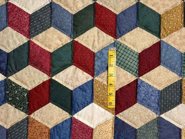 tumbling blocks quilt great meticulously made amish Modern Tumbling Blocks Quilt Pattern Gallery