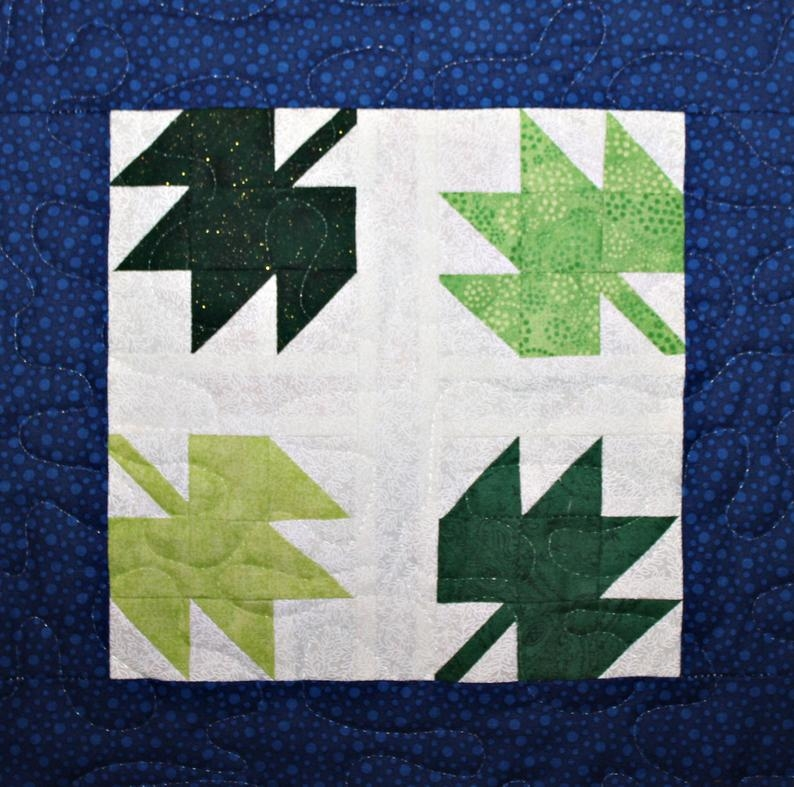 tumbling leaves pdf pieced quilt block pattern Modern Quilt Block Patterns
