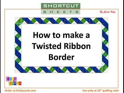 twisted ribbon border Unique Ribbon Border Quilt Pattern Inspirations
