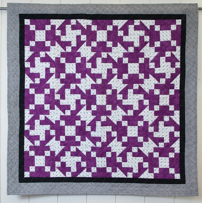 two for two quilt 2 block quilt modern tools meet Interesting Two Block Quilt Patterns Inspirations