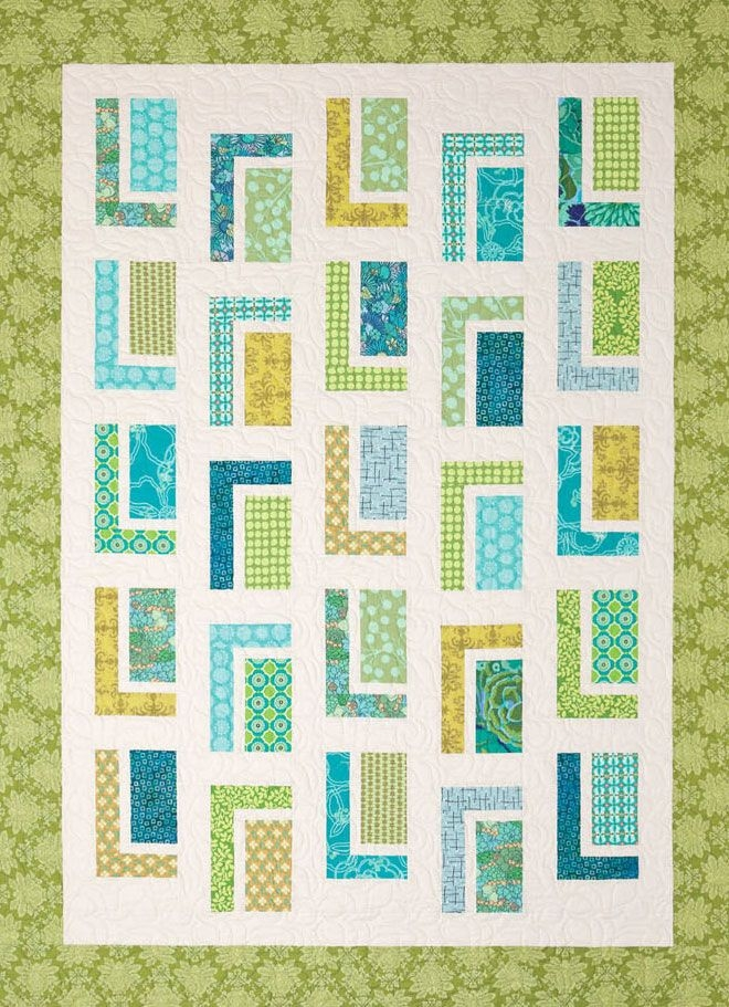 urban cabin quilt sewing pattern from atkinson designs Modern Quilt Sewing Patterns Gallery