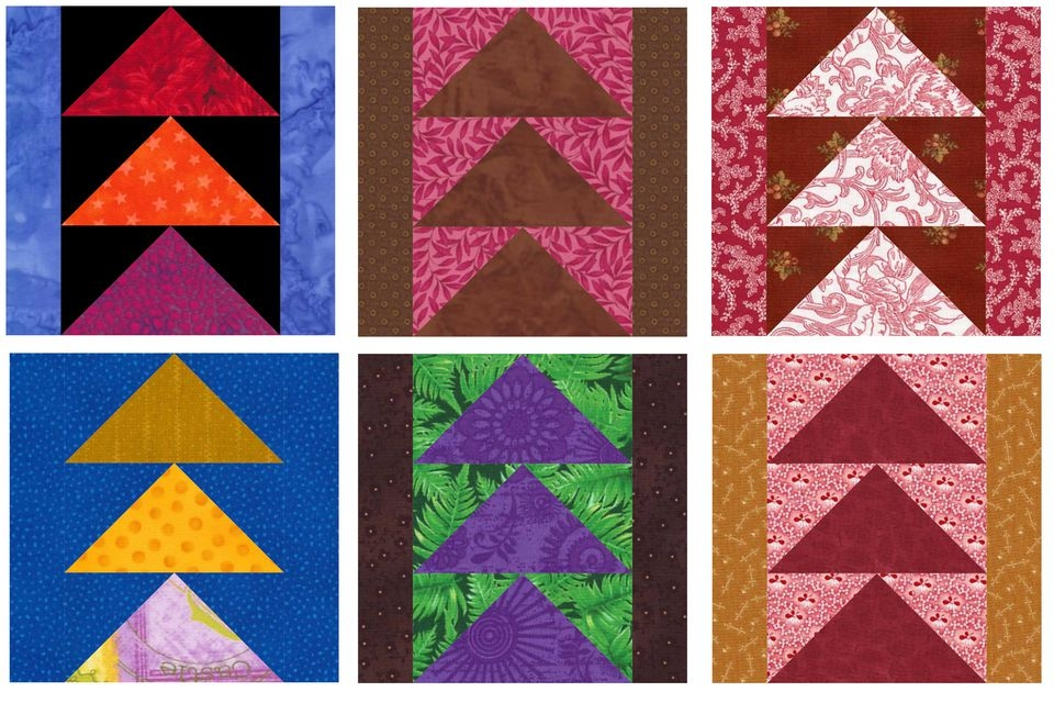 use flying geese to sew this easy quilt block pattern Cozy Easy Flying Geese Quilt Pattern