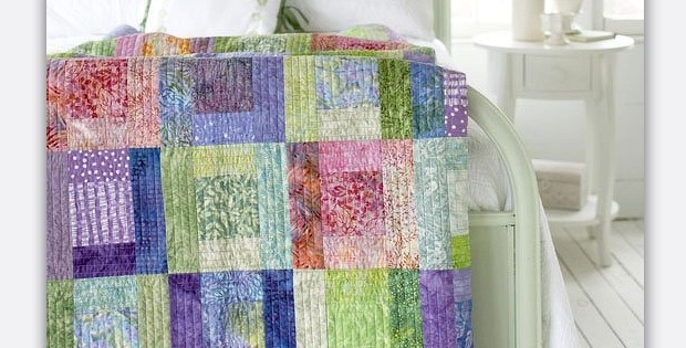 use soft batik fabrics in this easy sew bed sized quilt Cool Batik Fabric Quilt Patterns Inspirations