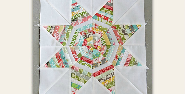 use up skinny strips in a string pieced star block Stylish Strip Pieced Quilt Patterns Inspirations