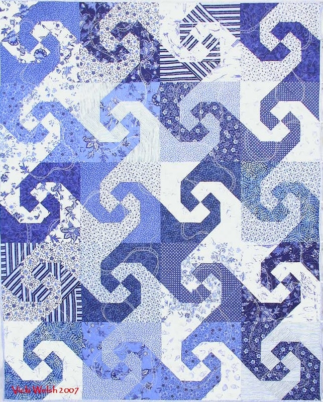 vicki welsh 2007 snails trail quilts colorways vicki welsh Cool Snail Trail Quilt Pattern Inspirations