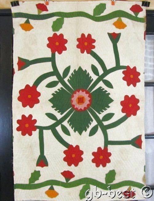 vintage applique quilt patterns free antique applique quilt Stylish Vintage Applique Quilt Patterns Inspirations