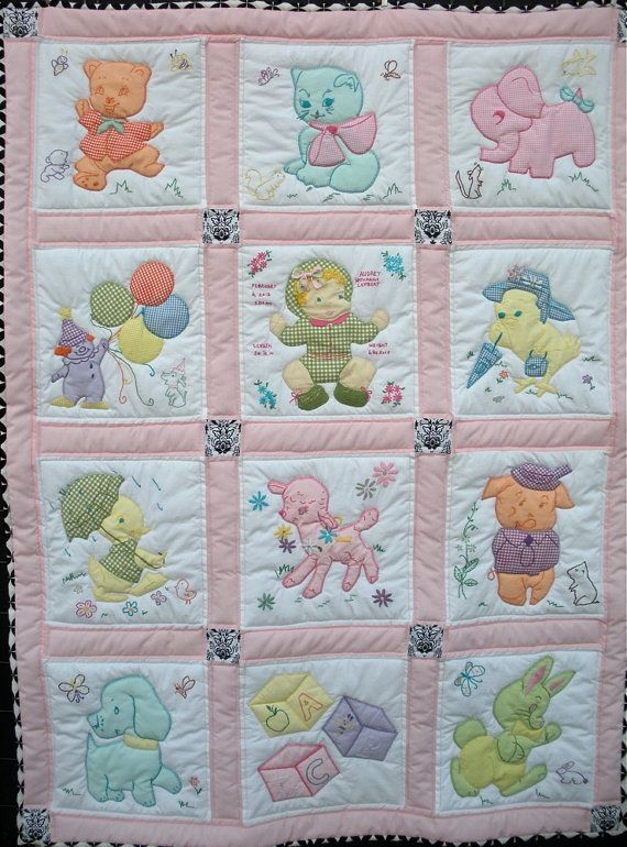 vintage ba quilt free shipping to continental us ba Interesting Vintage Baby Quilt Patterns Inspirations