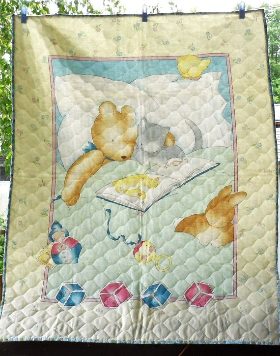vintage ba unisex panel quiltpre quilted fabric panel Cozy Vintage Baby Quilt Panels Gallery