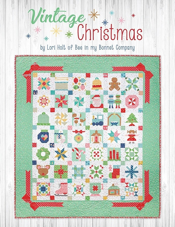 vintage christmas book lori holt of bee in my bonnet for Cozy Vintage Christmas Quilt