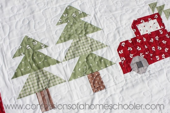 vintage christmas quilt pattern confessions of a homeschooler Christmas Quilt Pattern