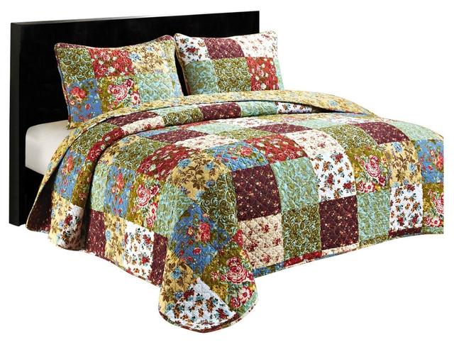 vintage garden queen quilt set Interesting Vintage Quilt Sets Inspirations