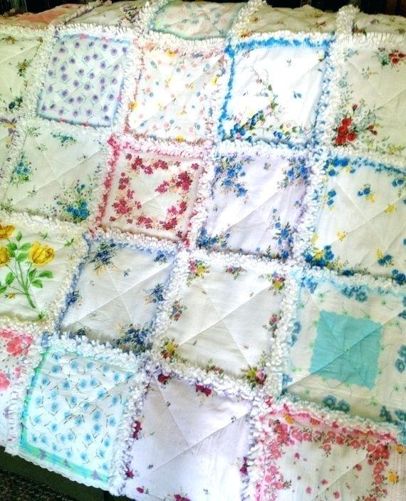 vintage looking quilts hanky quilt style handkerchief rag Elegant Vintage Looking Quilts Inspirations